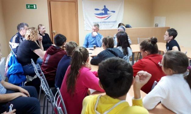 Встреча спортсменов ГАУ СО СШ по лыжному спорту с победителем ХХХ Летних Олимпийских игр Лондон 2012 г. Юрием Постригаем.